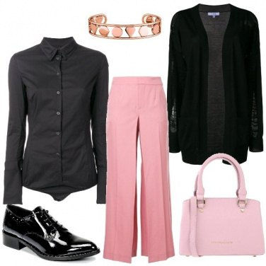 Outfit Geometrie in rosa