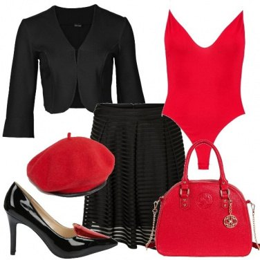 Outfit Col body rosso
