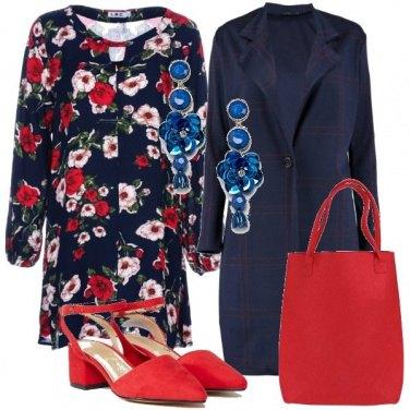 Outfit Col vestito floreale