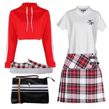 Outfit La gonna scozzese