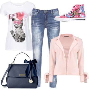 Outfit Sneakers floreali