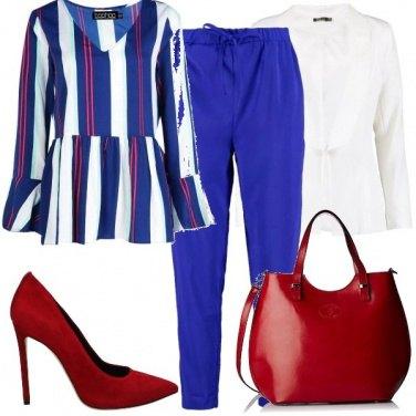 Outfit Con la blusa a righe