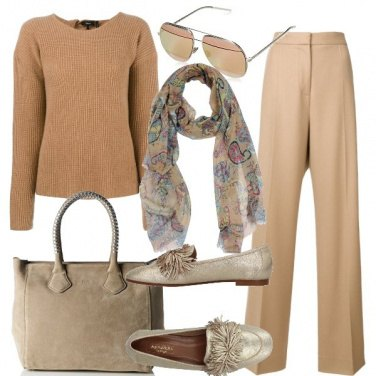 Outfit Il beige
