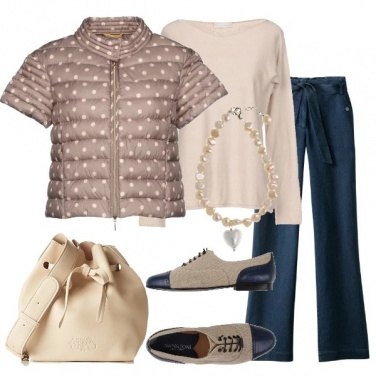 Outfit Piumino a pois