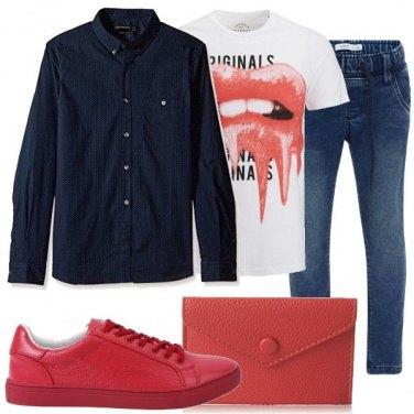 Outfit Camicia e t-shirt