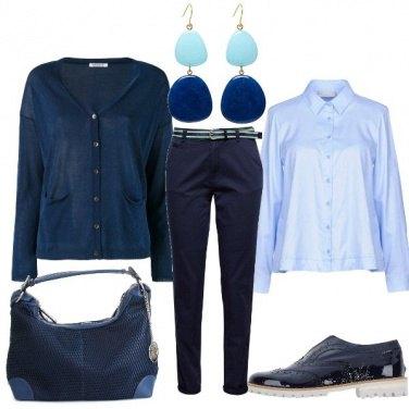 Outfit Dal celeste al blu