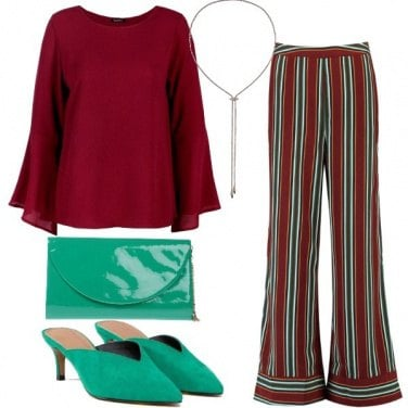 Outfit Pantaloni a righe