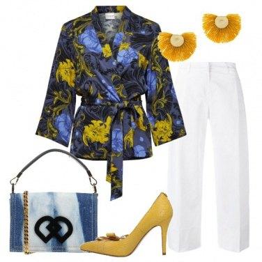 Outfit Il kimono floreale
