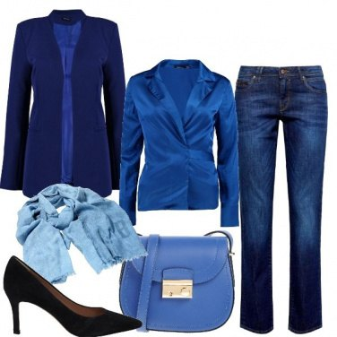 Outfit Il blu con le sue sfumature