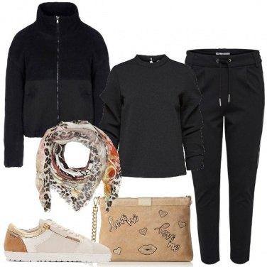 Outfit Nero macchiato