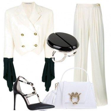 Outfit Classe in bianco e nero