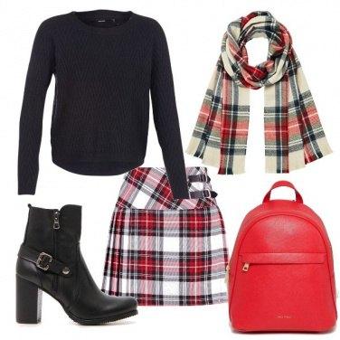 Outfit Scacchi per il freddo