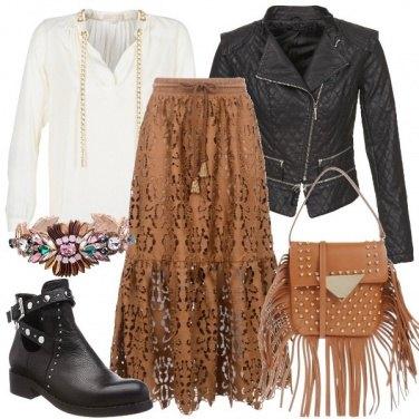 Outfit Longuette e frange