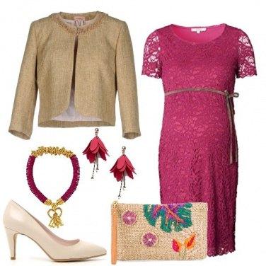 Outfit Mamma in fucsia