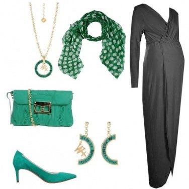Outfit L\'abito grigio lungo
