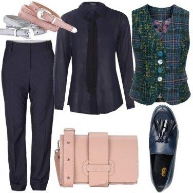 Outfit Con il gilet tartan