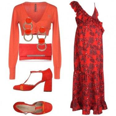 Outfit L\'abito a motivi floreali