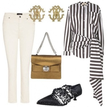 Outfit Camicia a righe