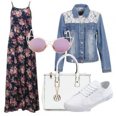Outfit Floreale e jeans