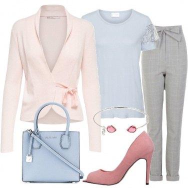 Outfit Principe di Galles e pastelli