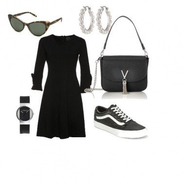 Outfit trendy in black