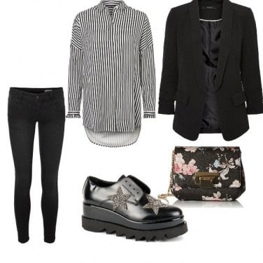 Outfit Righe, stelle e fiori