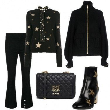 Outfit Black and Gold Star