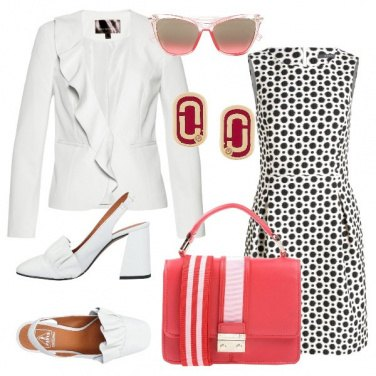 Outfit Bianco, rosso e...