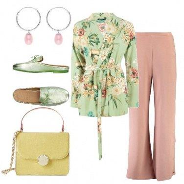 Outfit Fiori sul blazer