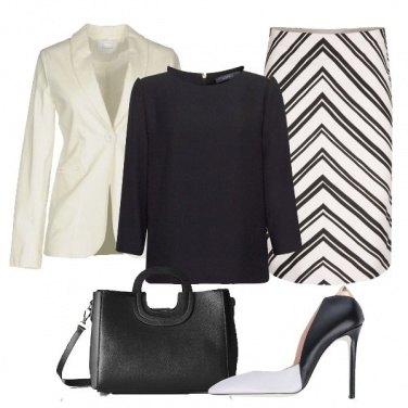 Outfit Panna e nero in ufficio