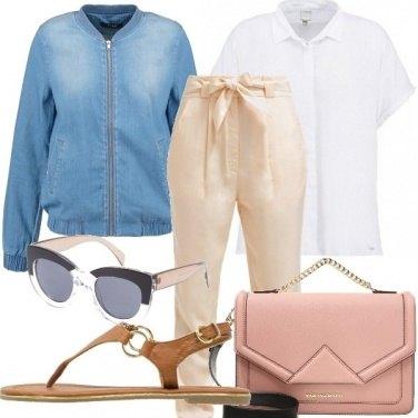 Outfit Colori soft + denim