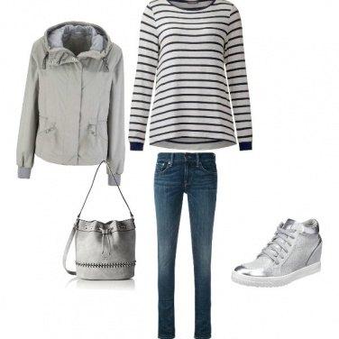 Outfit Praticita\' ufficio , scuola shopping
