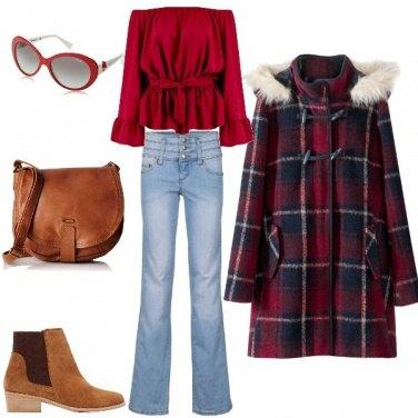 Outfit Ultimi freddi in rosso