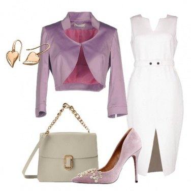 Outfit Glicine e bianco
