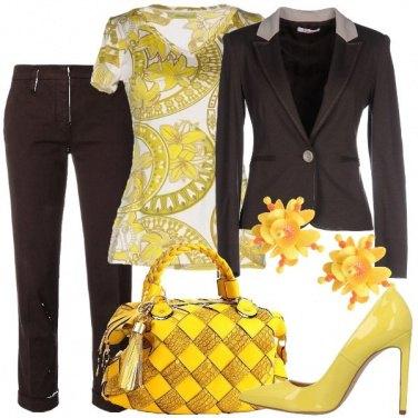 Outfit Il giallo col marrone
