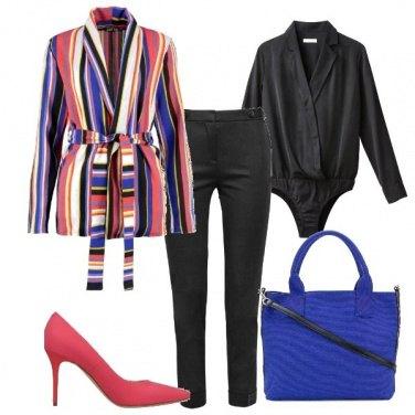 Outfit La casacca a righe