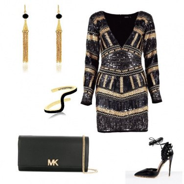 Outfit Black and gold for this night
