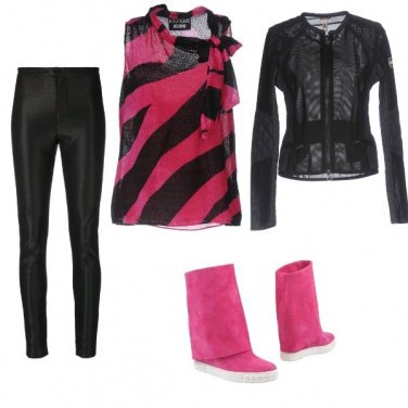 Outfit Zebra fucsia