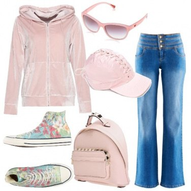 Outfit Casual rosa