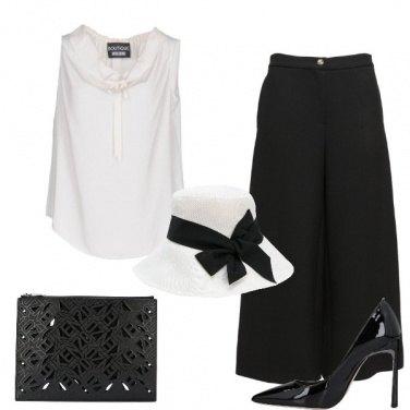 Outfit Bianco e nero per per la cerimonia