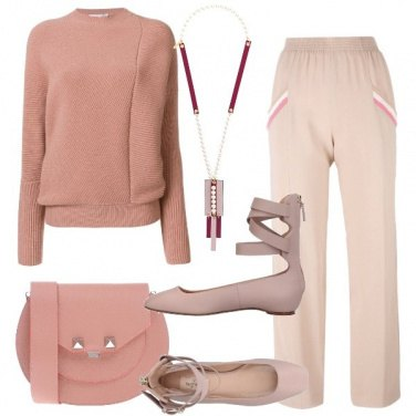 Outfit Ash rose in versione minimal