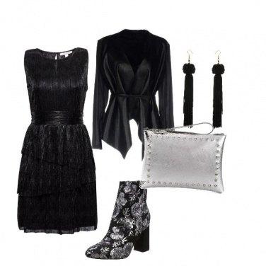 Outfit La scarpa pailettata
