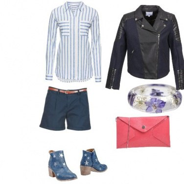 Outfit Blue & Rose Sporty