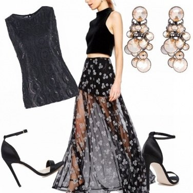 Outfit Stupenda la gonna lunga trasparente