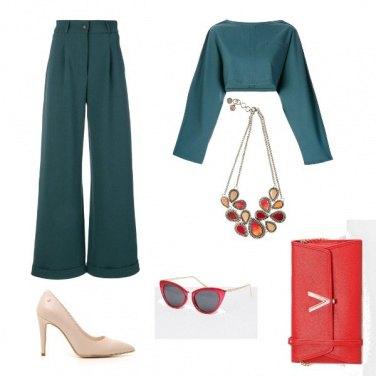 Outfit Verde e rosso