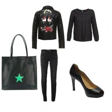 Outfit Giorno dark chic