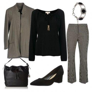 Outfit Nero e Grigio in Ufficio