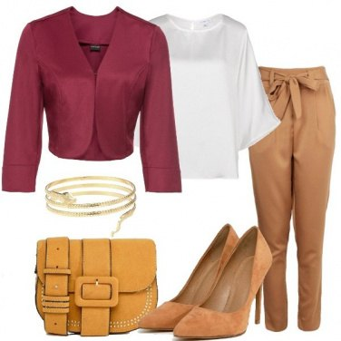 Outfit La giacca corta magenta