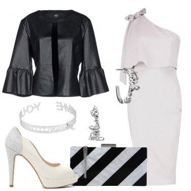 Outfit Abito longuette monospalla
