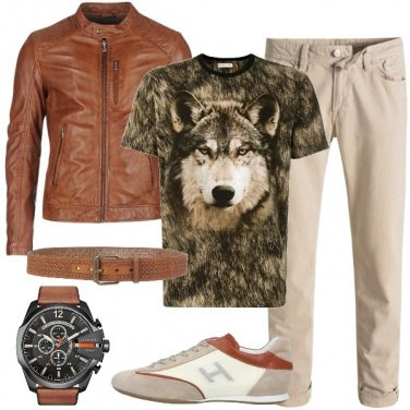 Outfit Il lupo sulla t-shirt
